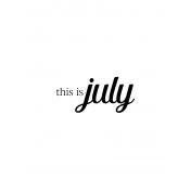 Month Pocket Card 04 July 3x4