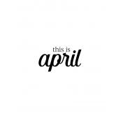 Month Pocket Card 04 April 3x4