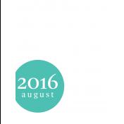 Month Pocket Card 03 August 3x4 Color