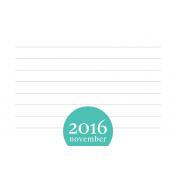 Month Pocket Card 03 November 4x6 Color