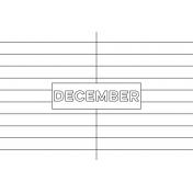 Month Pocket Card 01 December 4x6