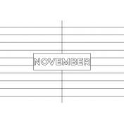 Month Pocket Card 01 November 4x6