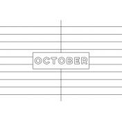 Month Pocket Card 01 October 4x6