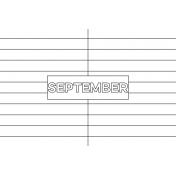 Month Pocket Card 01 September 4x6