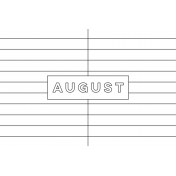 Month Pocket Card 01 August 4x6