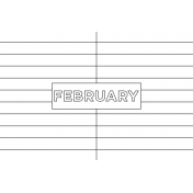 Month Pocket Card 01 February 4x6