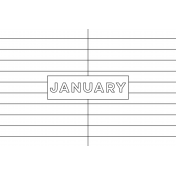 Month Pocket Card 01 January 4x6