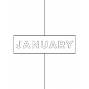 Month Pocket Card 01 January 3x4