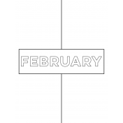 Month Pocket Card 01 February 3x4