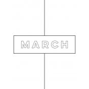Month Pocket Card 01 03 3x4