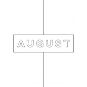 Month Pocket Card 01 August 3x4