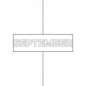 Month Pocket Card 01 September 3x4