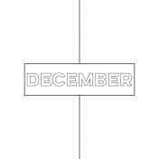 Month Pocket Card 01 December 3x4