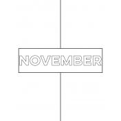 Month Pocket Card 01 November 3x4