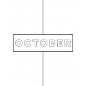 Month Pocket Card 01 October 3x4