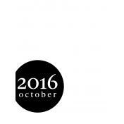 Month Pocket Card 03 October 3x4