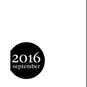 Month Pocket Card 03 September 3x4