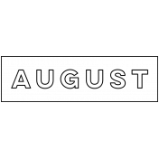 Month Word Art 01 August