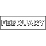 Month Word Art 01 February