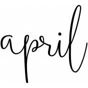 Month Word Art 02 April