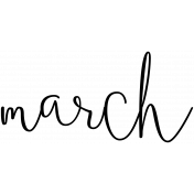 Month Word Art 02 March
