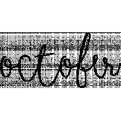 Month Word Art 02 October