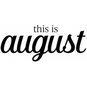 Month Word Art 04 August