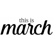 Month Word Art 04 March