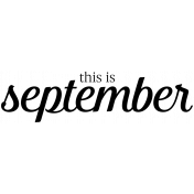 Month Word Art 04 September