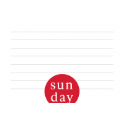 Weekly Pocket Card 03 Sun 4x6 Color