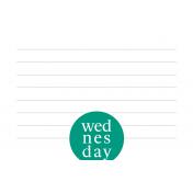 Weekly Pocket Card 03 Wed 4x6 Color