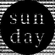Word Art Spot Sun