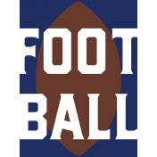 Football Journal Card 03 3x4