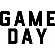Football Word Art Game Day