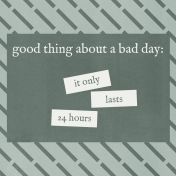 Bad Day- Journal Cards- Good Thing 4x4