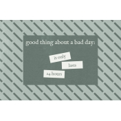 Bad Day- Journal Cards- Good Thing 6x4