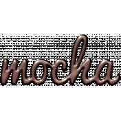 For The Love- Wordart- Mocha