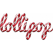 For The Love- Wordart- Lollipop