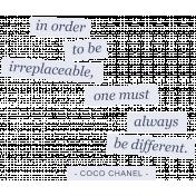 Younique- Word Art- Coco Chanel Quote