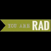 The Guys- Minikit- Word Strip- You Are Rad