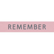 YesterYear- Elements- Remember