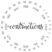 Baby On Board- Date Stamps- Contractions