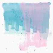 Summer Day- Mini Kit- Paper- Blue & Pink Paint