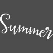 Summer Day- Mini Kit- Word Art- Summer