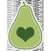 Picnic Day Sticker- Pear