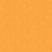Happy Birthday- Minikit- Happy Birthday Paper- Orange