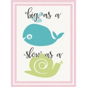 Baby On Board- Journal Cards 3x4- Big Slow