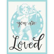 Baby On Board- Journal Cards 3x4- You Are Loved- Blue