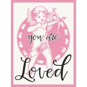 Baby On Board- Journal Cards 3x4- You Are Loved- Pink