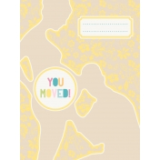 Baby On Board- Journal Cards 3x4- You Moved